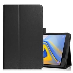 Litchi Texture Horizontal Flip Leather Case for Samsung Galaxy Tab A 10.5 T590 / T595 / T597, with Holder (Black)