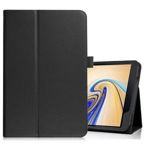 Litchi Texture Horizontal Flip Leather Case for Samsung Galaxy Tab S4 10.5 T830 / T835, with Holder (Black)