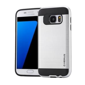 For Samsung Galaxy S7 / G930 Brushed Texture PC + TPU Protective Case(Silver)
