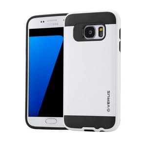 For Samsung Galaxy S7 / G930 Brushed Texture PC + TPU Protective Case(White)