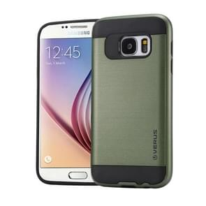 For Samsung Galaxy S6 / G920 Brushed Texture PC + TPU Protective Case(Army Green)