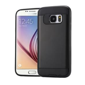 For Samsung Galaxy S6 / G920 Brushed Texture PC + TPU Protective Case(Black)