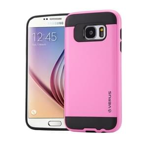 For Samsung Galaxy S6 / G920 Brushed Texture PC + TPU Protective Case(Pink)