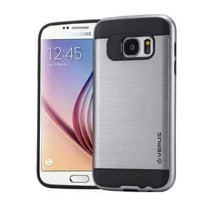 For Samsung Galaxy S6 / G920 Brushed Texture PC + TPU Protective Case(Grey)