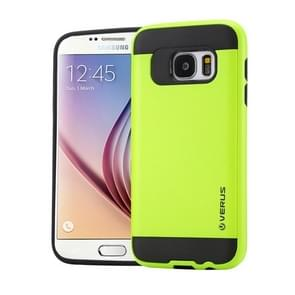 For Samsung Galaxy S6 / G920 Brushed Texture PC + TPU Protective Case(Light Green)