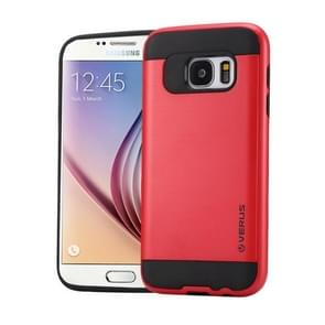 For Samsung Galaxy S6 / G920 Brushed Texture PC + TPU Protective Case(Red)