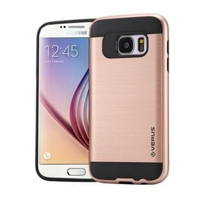 For Samsung Galaxy S6 / G920 Brushed Texture PC + TPU Protective Case(Rose Gold)