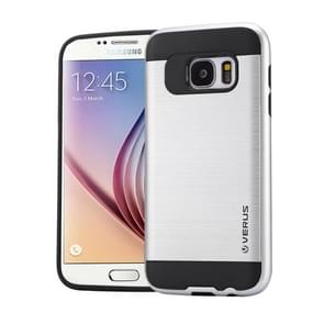For Samsung Galaxy S6 / G920 Brushed Texture PC + TPU Protective Case(Silver)