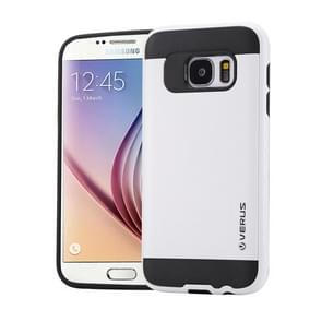 For Samsung Galaxy S6 / G920 Brushed Texture PC + TPU Protective Case(White)