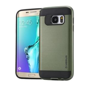 For Samsung Galaxy S6 Edge+ / G928 Brushed Texture PC + TPU Protective Case(Army Green)