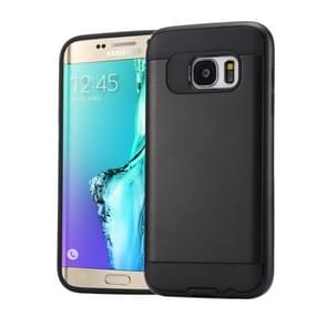 For Samsung Galaxy S6 Edge+ / G928 Brushed Texture PC + TPU Protective Case(Black)