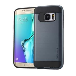 For Samsung Galaxy S6 Edge+ / G928 Brushed Texture PC + TPU Protective Case(Dark Blue)