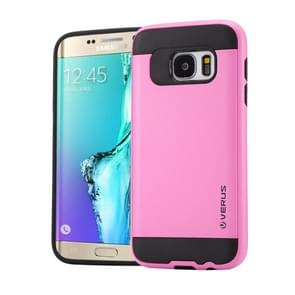 For Samsung Galaxy S6 Edge+ / G928 Brushed Texture PC + TPU Protective Case(Pink)