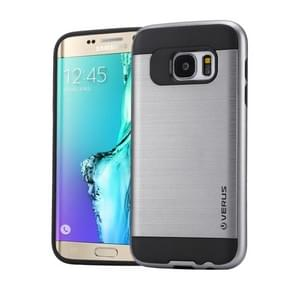 For Samsung Galaxy S6 Edge+ / G928 Brushed Texture PC + TPU Protective Case(Grey)