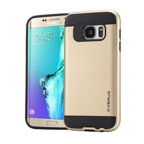 For Samsung Galaxy S6 Edge+ / G928 Brushed Texture PC + TPU Protective Case(Gold)