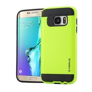 For Samsung Galaxy S6 Edge+ / G928 Brushed Texture PC + TPU Protective Case(Light Green)