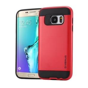 For Samsung Galaxy S6 Edge+ / G928 Brushed Texture PC + TPU Protective Case(Red)