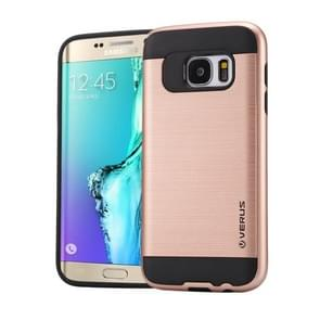 For Samsung Galaxy S6 Edge+ / G928 Brushed Texture PC + TPU Protective Case(Rose Gold)