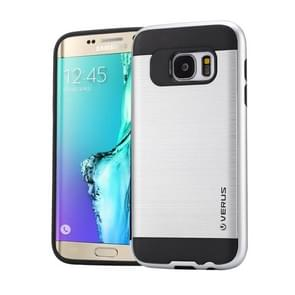 For Samsung Galaxy S6 Edge+ / G928 Brushed Texture PC + TPU Protective Case(Silver)