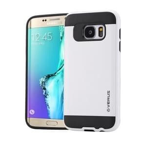 For Samsung Galaxy S6 Edge+ / G928 Brushed Texture PC + TPU Protective Case(White)