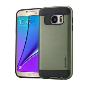 For Samsung Galaxy Note 5 / N920 Brushed Texture PC + TPU Protective Case(Army Green)