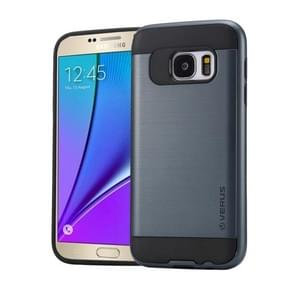 For Samsung Galaxy Note 5 / N920 Brushed Texture PC + TPU Protective Case(Dark Blue)