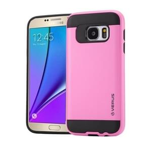 For Samsung Galaxy Note 5 / N920 Brushed Texture PC + TPU Protective Case(Pink)