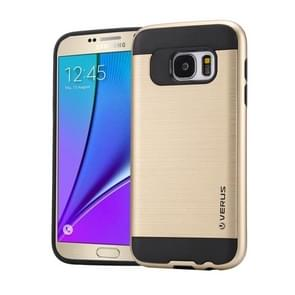 For Samsung Galaxy Note 5 / N920 Brushed Texture PC + TPU Protective Case(Gold)