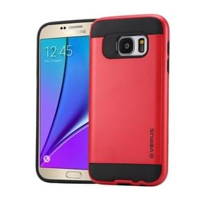 For Samsung Galaxy Note 5 / N920 Brushed Texture PC + TPU Protective Case(Red)
