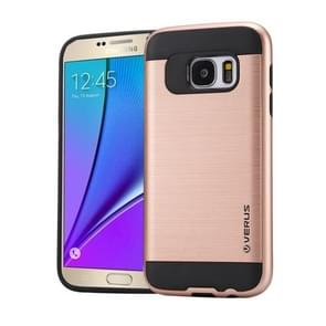 For Samsung Galaxy Note 5 / N920 Brushed Texture PC + TPU Protective Case(Rose Gold)