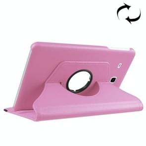For Samsung Galaxy Tab A 7.0 (2016) / T280 / T285 360 Degrees Rotation Litchi Texture Horizontal Flip Solid Color Leather Case with Holder(Pink)