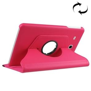 For Samsung Galaxy Tab A 7.0 (2016) / T280 / T285 360 Degrees Rotation Litchi Texture Horizontal Flip Solid Color Leather Case with Holder(Magenta)