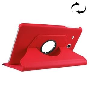 For Samsung Galaxy Tab A 7.0 (2016) / T280 / T285 360 Degrees Rotation Litchi Texture Horizontal Flip Solid Color Leather Case with Holder(Red)