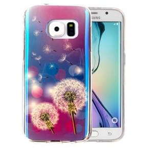 For Samsung Galaxy S6 Edge / G925 IMD Dandelions Pattern Blu-ray Soft TPU Protective Case