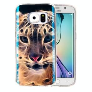 For Samsung Galaxy S6 Edge / G925 IMD Tiger Pattern Blu-ray Soft TPU Protective Case
