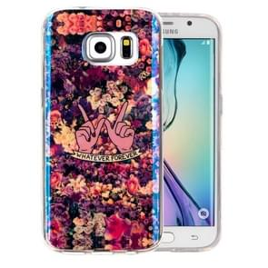 For Samsung Galaxy S6 Edge+ / G928 IMD Colorful Flowers Pattern Blu-ray Soft TPU Protective Case