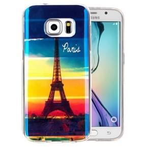 For Samsung Galaxy S6 Edge+ / G928 IMD Rainbow Eiffel Tower Pattern Blu-ray Soft TPU Protective Case