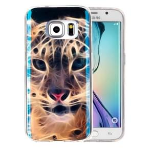 For Samsung Galaxy S6 Edge+ / G928 IMD Tiger Pattern Blu-ray Soft TPU Protective Case