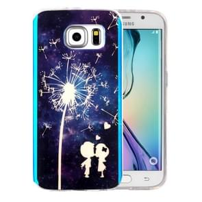 For Samsung Galaxy S6 Edge+ / G928 IMD Little Couple and Dandelion Pattern Blu-ray Soft TPU Protective Case