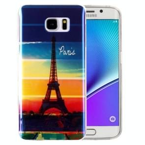 For Samsung Galaxy Note 5 / N920 IMD Rainbow Eiffel Tower Pattern Blu-ray Soft TPU Protective Case