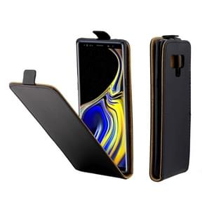 Business Style Vertical Flip TPU Leather Case for Galaxy Note9, with Card Slot(Black)