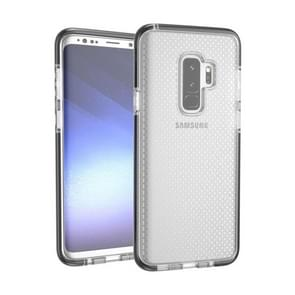 Voor Samsung Galaxy S9+ Basketball structuur Anti-collision TPU beschermings Back Cover hoesje(Zwart (wit))