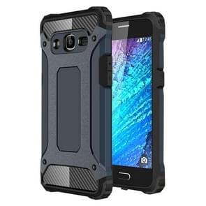 For Samsung Galaxy J2 (2016) / J210 Tough Armor TPU + PC Combination Case(Navy Blue)
