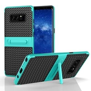 For Samsung Galaxy Note 8 PC Texture Protective Cover Back Case with Built-in Holder (Green)