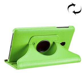 For Samsung Galaxy Tab A 8.0 (2017) / T380 / T385 Litchi Texture Horizontal Flip 360 Degrees Rotation Leather Case with Holder(Green)