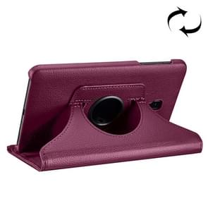 For Samsung Galaxy Tab A 8.0 (2017) / T380 / T385 Litchi Texture Horizontal Flip 360 Degrees Rotation Leather Case with Holder(Purple)