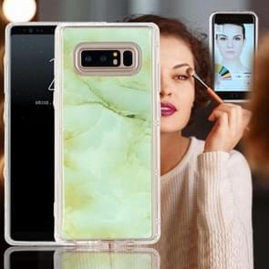 For Samsung Galaxy Note 8 Anti-Gravity Nano-suction Technology Dropproof Green Marble Pattern TPU Protective Back Cover Case