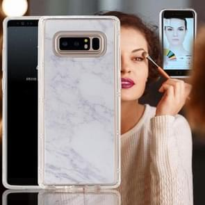 For Samsung Galaxy Note 8 Anti-Gravity Nano-suction Technology Dropproof White Marble Pattern TPU Protective Back Cover Case