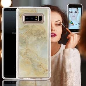 For Samsung Galaxy Note 8 Anti-Gravity Nano-suction Technology Dropproof Yellow Marble Pattern TPU Protective Back Cover Case