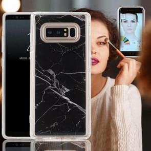 For Samsung Galaxy Note 8 Anti-Gravity Nano-suction Technology Dropproof Black Marble Pattern TPU Protective Back Cover Case